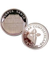 Moneda de plata recuerdo de la Puerta Santa