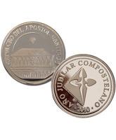 Moneda de plata recuerdo del sepulcro del Apóstol Santiago
