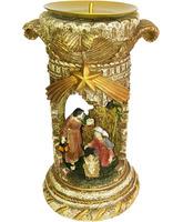 Nacimiento portal de Belén con porta velas
