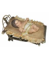 Niño Jesús con cuna para Nacimiento
