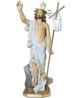 Jesús Resucitado con brazo extendido hacia el cielo