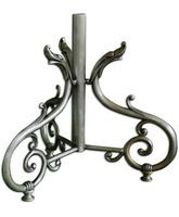 Porta Cruz parroquial de metal plateado