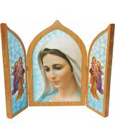 Trípticos religiosos - Virgen de Medjugorje