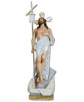 Cristo resucitado con mano en el pecho