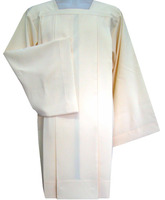Roquete liso de poliéster con cuatro pliegues