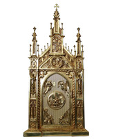 Sagrario de bronce con expositor para Santísimo Sacramento