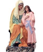 Santa Ana sentada con la Virgen María