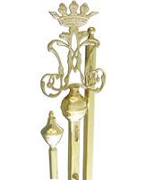Vara porta entandarte dorada con insignia de María
