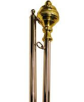 Juego de seis varas para palio procesional
