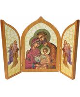 Trípticos religiosos - Sagrada Familia estilo bizantino