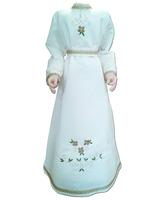 Vestido para Virgen María confeccionado en raso