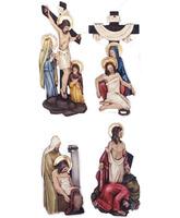 Vía Crucis con estaciones de poliéster vaciado