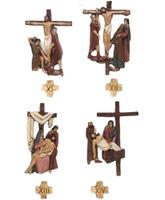 Vía Crucis con estaciones de 30 cm. de altura media