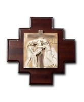 Vía Crucis fabricado en madera y marmolina