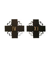 Vía Crucis de forja con números pintados
