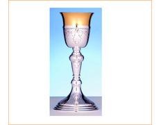 Cáliz de plata con 25 cm. de altura
