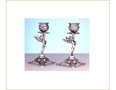 Candelero de plata de ley para mesa
