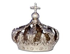 Corona de plata con orbe y Cruz