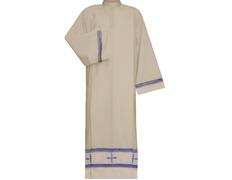 Alba con Cruces bordadas | Cremallera en hombro
