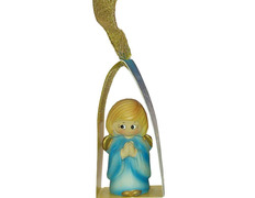 Angelito para el Árbol de navidad azul