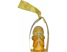 Angelito para el Árbol de navidad naranja