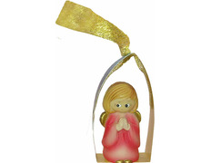 Angelito para el Árbol de navidad rosa