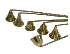 Apagavelas de metal dorado con mango