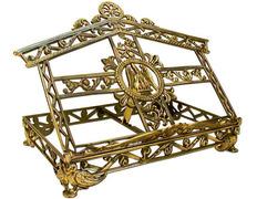 Atril regulable para mesa con elementos litúrgicos