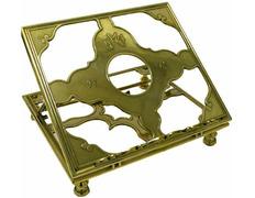 Atril regulable fabricado en metal dorado