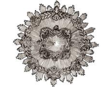 Aureola de disco fabricada en plata con destellos