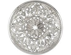 Aureola de plata de ley con 27 cm. de diámetro