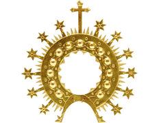 Aureola dorada modelo Virgen del Rocío