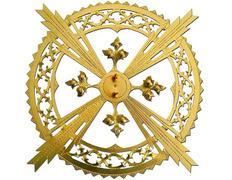 Aureola para Jesús con cuatro resplandores lisos