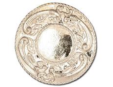 Aureola de plata con decoración en altorelieve