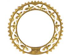 Aureola de metal dorado