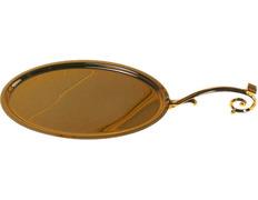 Bandeja de Comunión fabricada en metal dorado