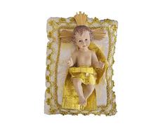 Niño Jesús de marmolina con cojín