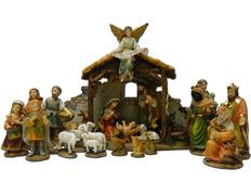 Belén con Sagrada Familia, Reyes Magos y pastores