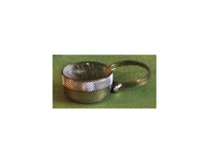 Crismera de anillo con tapa grabada