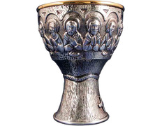 Cáliz de la Última Cena en bronce con baño de plata