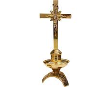 Candelero de mesa con Cruz | Fundición