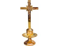 Candelero de mesa con Crucifijo