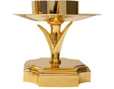 Candelero con base dorada