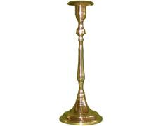 Candelero liso fabricado en bronce pulido