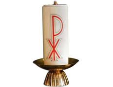 Candelero para mesa de base circular con vela