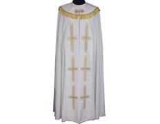 Capa pluvial de poliéster en los cuatro colores litúrgicos blanco