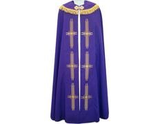Capa pluvial de poliéster en los cuatro colores litúrgicos morado