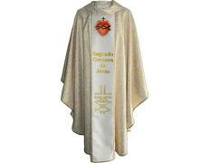 Casulla con galón central Sagrado Corazón