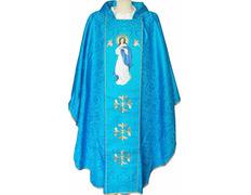 Casulla mariana bordada | Virgen Purísima