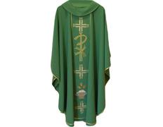 Casulla en los cuatro colores litúrgicos | Poliéster verde